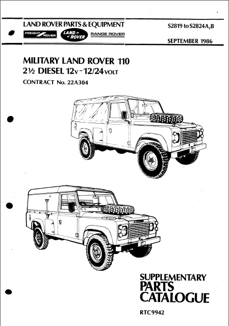 military defender 110 suppl catalogue 1986 der serieblog. Black Bedroom Furniture Sets. Home Design Ideas